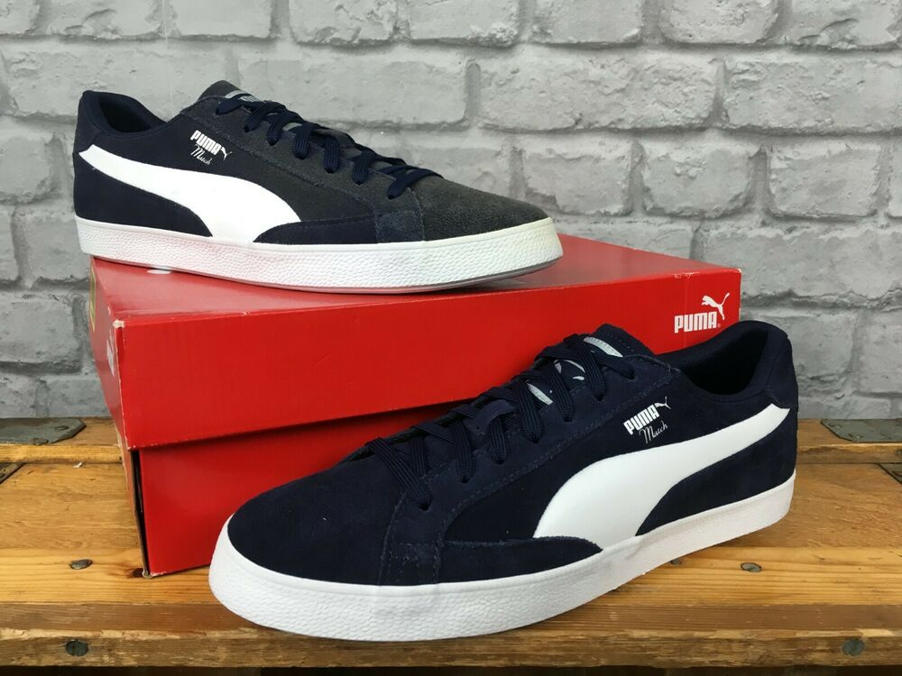 Details about PUMA MENS MATCH VULC 2 NAVY BLUE WHITE SUEDE TRAINERS RE-DYE  VARIOUS SIZES 9fca1e82c