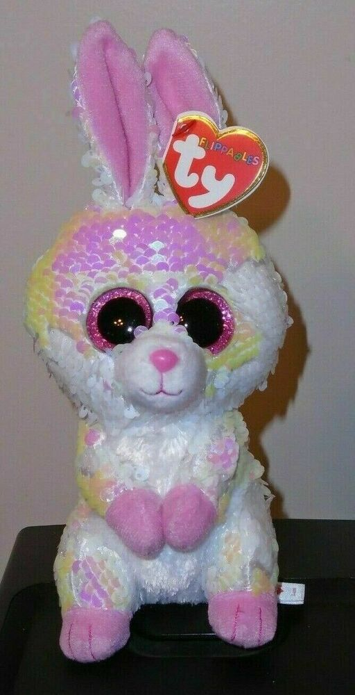 Details about Ty FLIPPABLES ~ BONNIE the Easter Bunny Rabbit Sequins 6