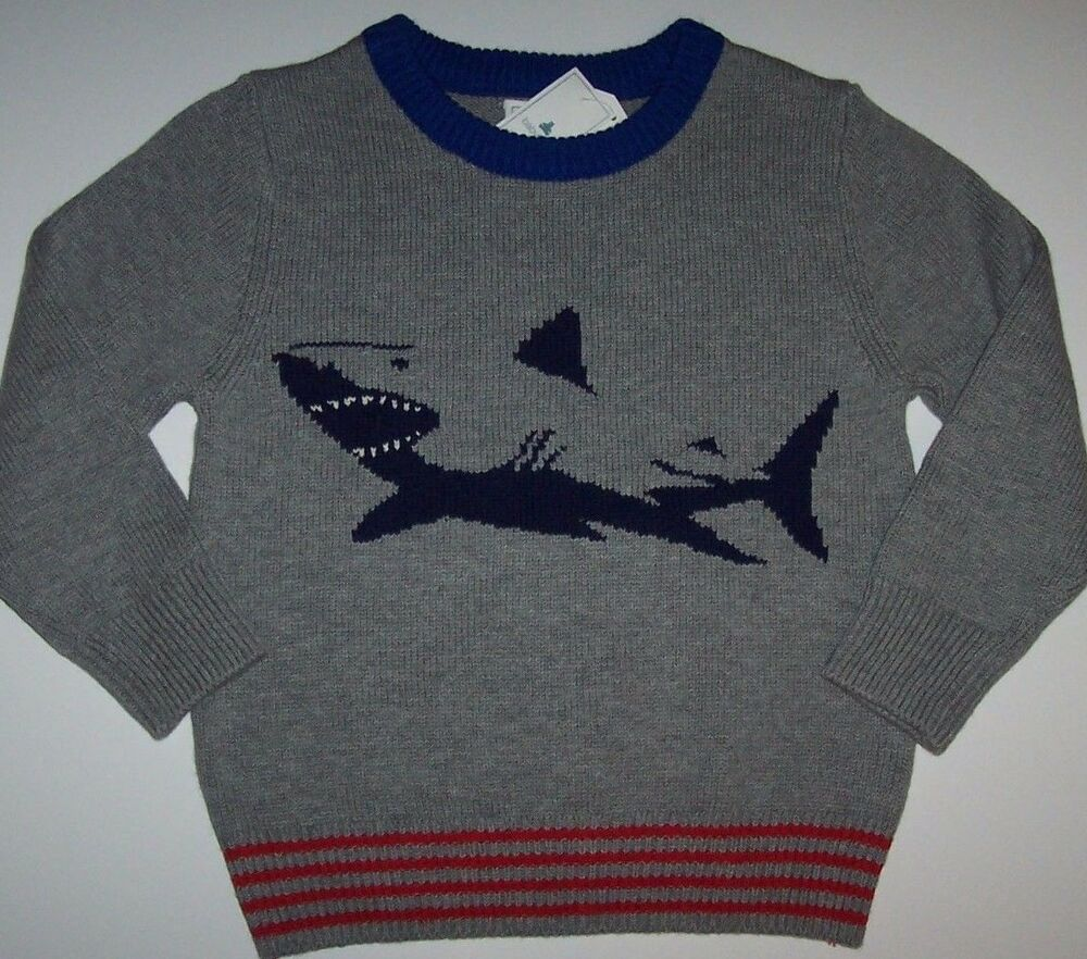2c6f7813c99 Details about NWT Baby Gap  39.95 Gray NAVY BLUE SHARK Sweater 18-24 M  Toddler Boy Red Royal