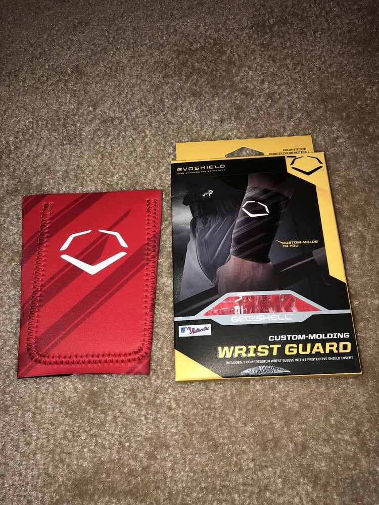 Xl Red Evoshield Custom Molding Baseball Wrist Guard Nib Ebay