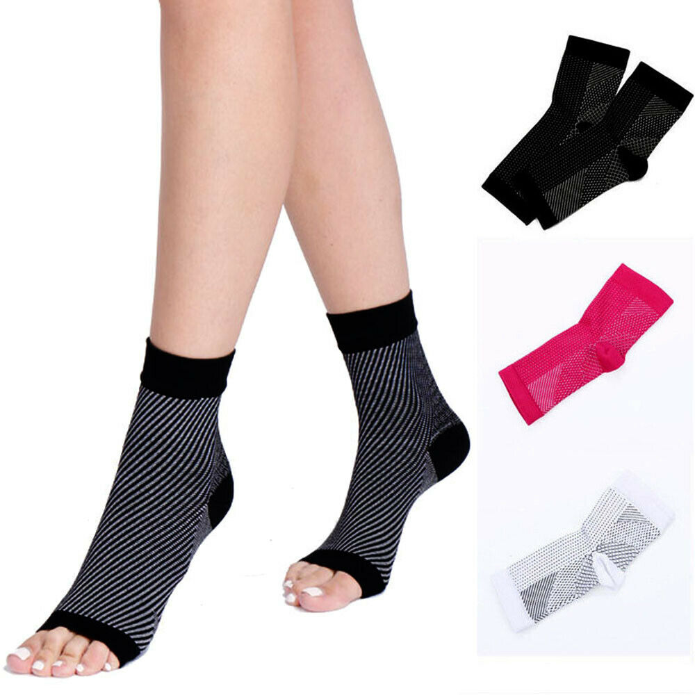 ae301c8d5b Details about Copper Infused Compression Socks Ankle Support Brace Foot  Arithritis Pain Relief