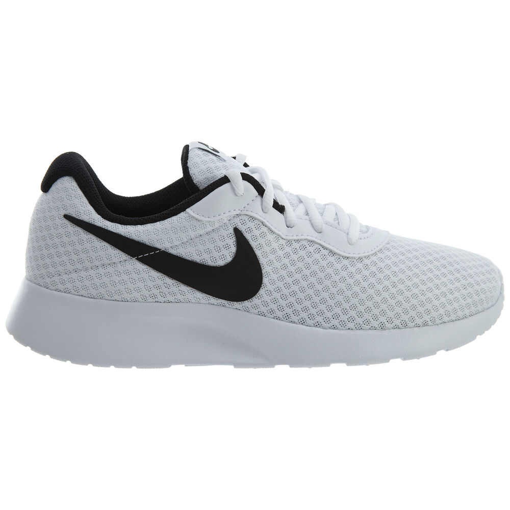 dbefbc1e9c4 Details about Nike Tanjun Mens 812654-101 White Black Mesh Athletic Running  Shoes Size 9