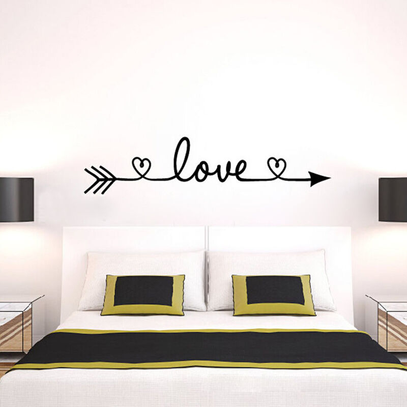 love arrow quote wall stickers family bedroom living room decals