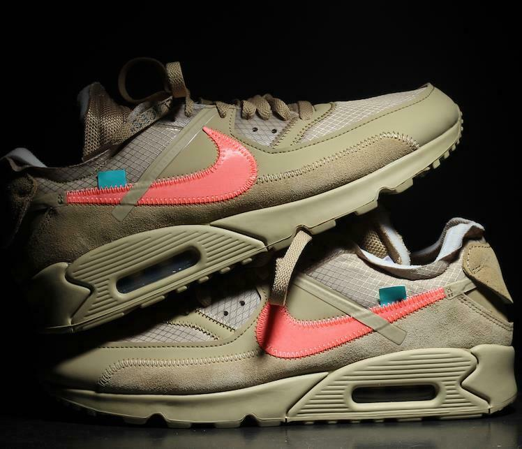 big sale 46d22 5148b Details about NIKE Air Max 90 x Off White Desert Ore Beige Size 8 9 10 11  12 Mens AA7293-200