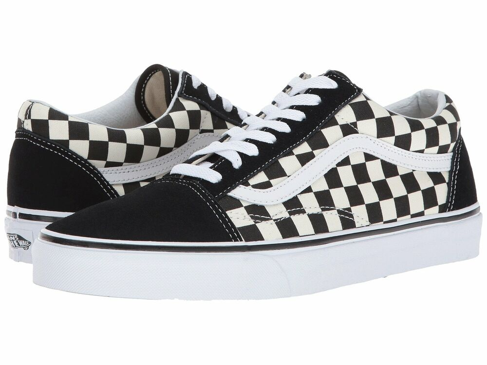 920829c15d Details about Vans Old Skool Primary Checker Black White Skate Shoes  VN0A38G1P0S