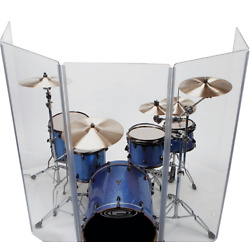 Kyпить Drum Shield/Drum Screen Panels 5 Panels 2ftX5ft with Flexible Hinges  на еВаy.соm