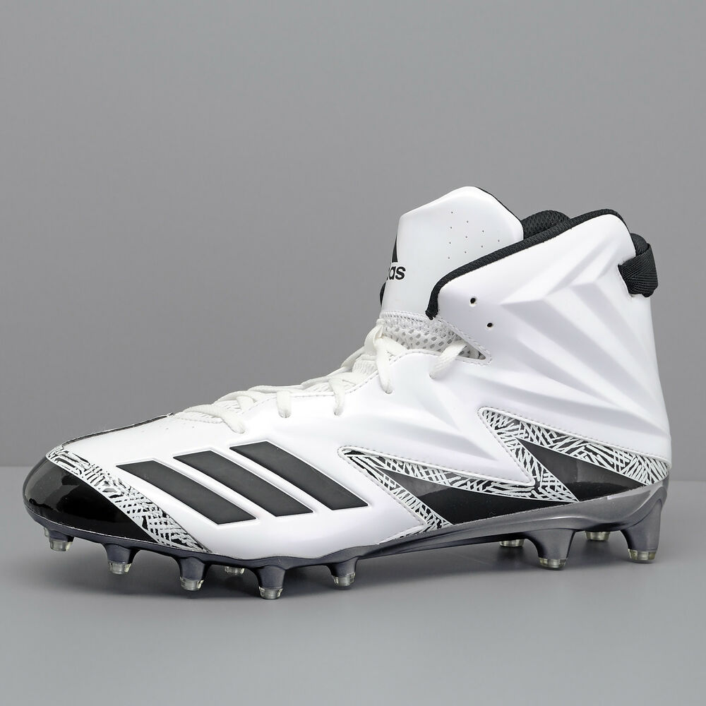 b27f1b1fe Details about New Adidas Freak x Carbon High Mens Hi Top Football Cleats - White  Black - Sz 14