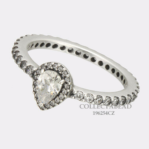98a7f38ab Details about Authentic Pandora Silver Radiant Teardrop Clear CZ Ring Size  52 (6) 196254CZ