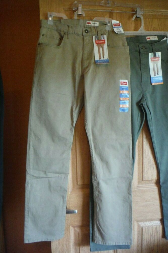 f82a45e3 Details about Wrangler Straight Fit, 4 Way Flex, Gray Pants, Choose size,  NEW!