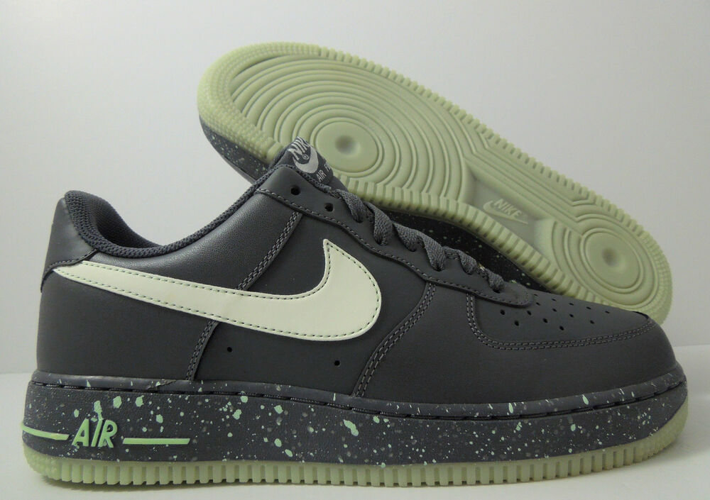 promo code a19e9 5746e Details about NIKE AIR FORCE 1 GLOW IN THE DARK GREY SZ 12 [488298-019]
