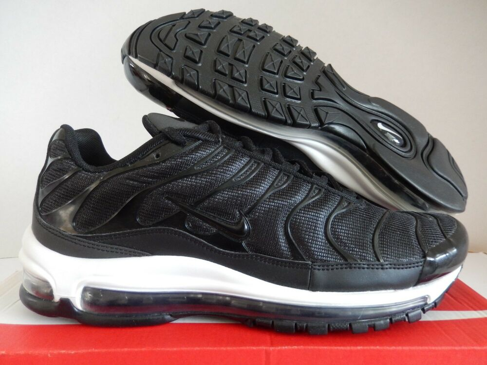 best service 195b1 187fb Details about NIKE AIR MAX 97   PLUS AIR MAX PLUS AIR MAX 97 BLACK-WHITE SZ  13  AH8144-001