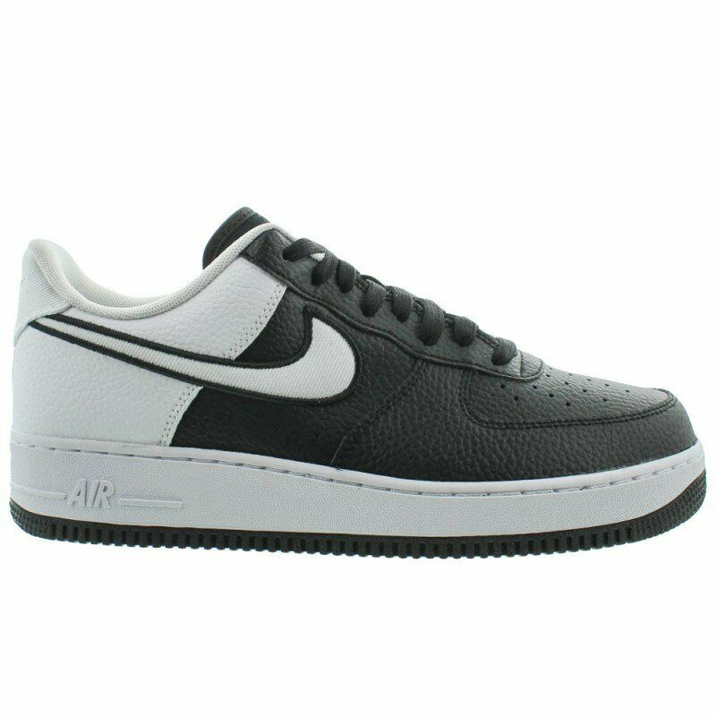 finest selection fb6af 9fb2f Details about Nike Air Force 1 07 LV8 Mens AO2439-001 Black White Athletic  Low Shoes Size 9
