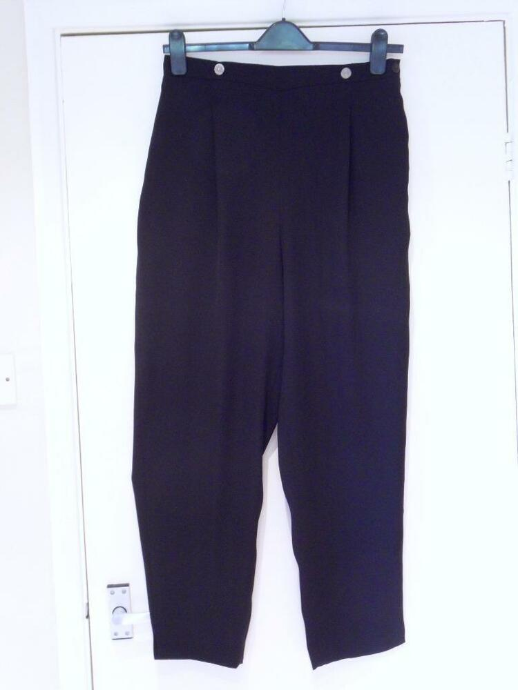 b548fa7b9 Details about WINDSMOOR - Lovely Black Dressy Tapered TROUSERS - UK Size 16  SHORT