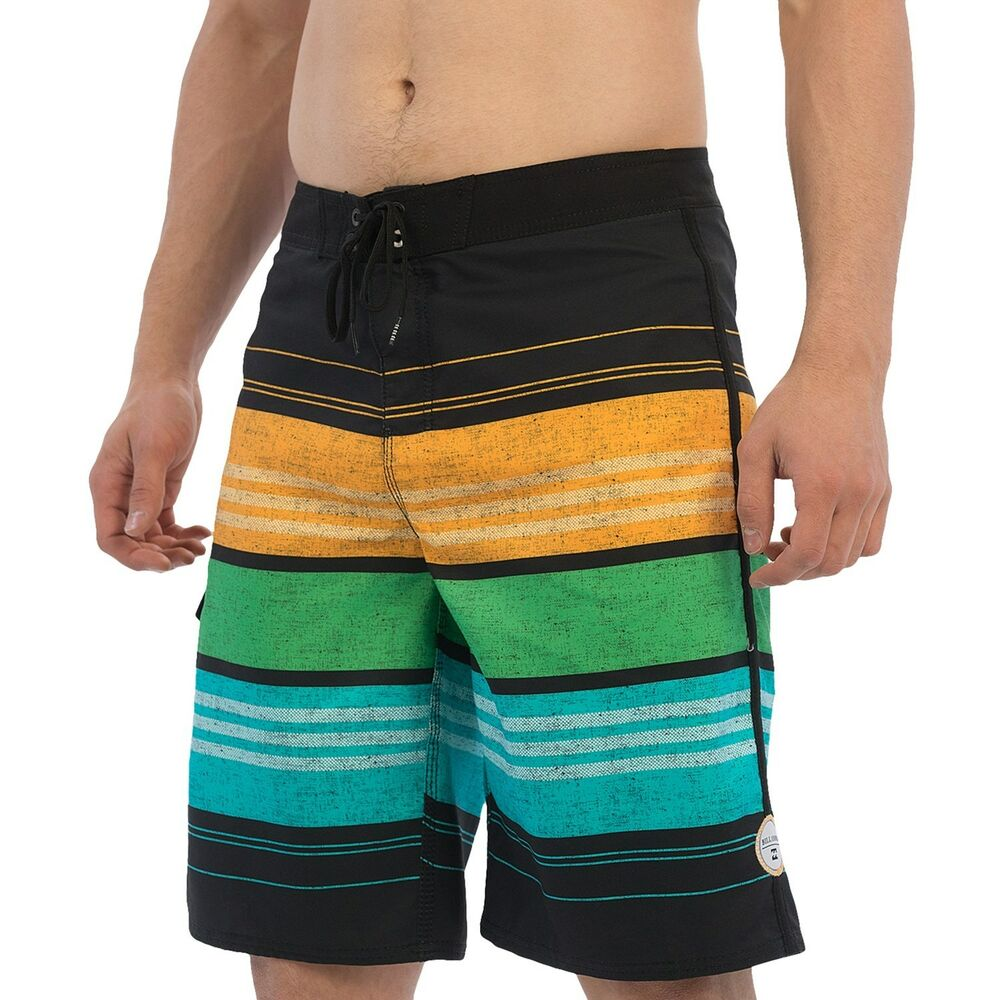 cf4ba8c8c1 Details about NEW BILLABONG SURF BOARDSHORTS SHORTS MENS 32 Black Striped  Swimsuit $50 Retail