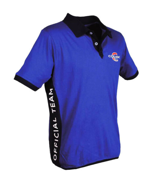 Colmic Abbigliamento Polo cotone Blu Official Team pesca New collection RNR