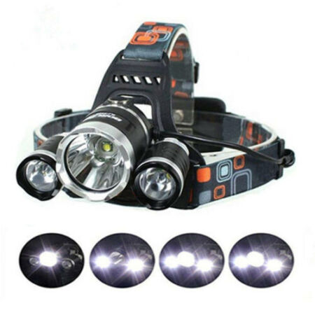 img-Rechargeable Tactical LED Headlight Lamp Flashing Torch Fishing Working Headlamp