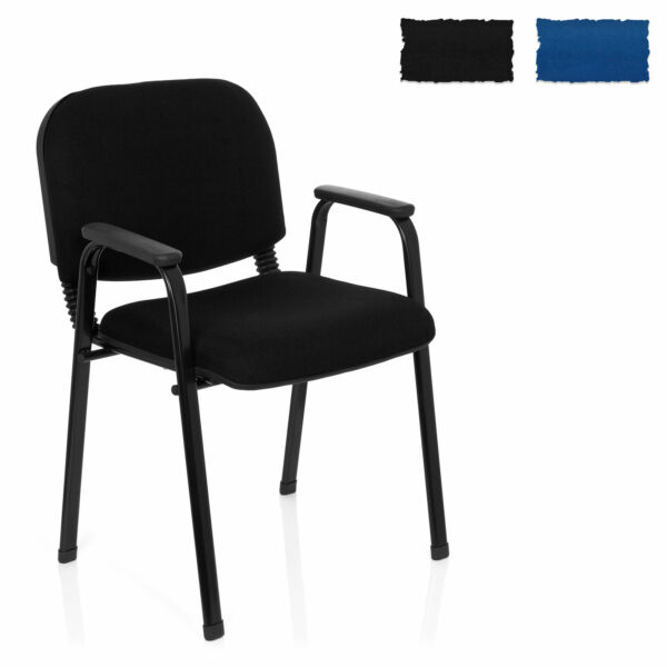 Conference Chair Meetinig Stool Armrests Stackable XT 650 Steel Frame hjh OFFICE