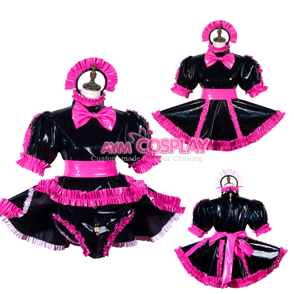 8e716b6c1 Details about Rompesr Sissy baby maid PVC dress lockable CD/TV Tailor-made [G3790/G3711]