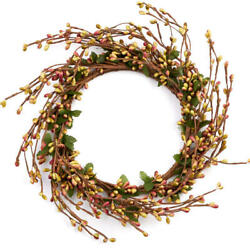 Kyпить Rose and Green Pip Berry and Twig Candle Rings 2 Candle Rings на еВаy.соm