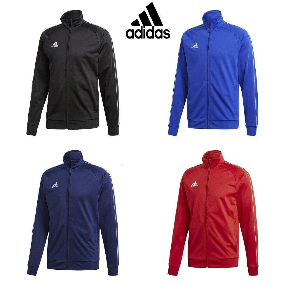 ee81d34c03 Details about Adidas Core Boys Football Jackets Training Zip Jacket Kids  Jumper Track Top