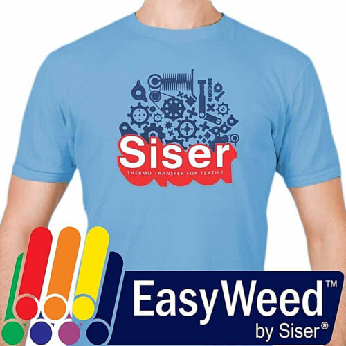"""Siser EasyWeed® HTV Heat Transfer Vinyl for T-Shirts 12"""" by the Yard Rolls"""