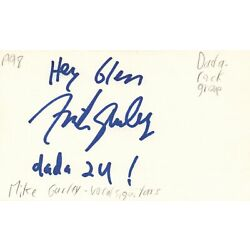 Mike Gurley Vocals Guitarist Dada Rock Band Music Autographed Signed Index Card