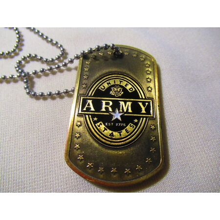 img-US ARMY DOG TAG Challenge Coin w/ chain