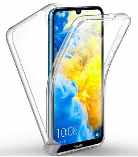 Housse etui coque gel 360 integrale Huawei Y5 (2019) + film ecran - TRANSPARENT