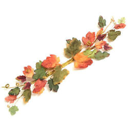Artificial Fall Leaf Swag   2 Pieces
