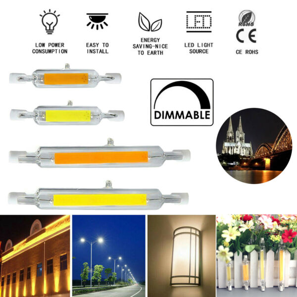 2X 4X10X LED Dimmable R7S COB Tube Light Bulbs 118mm 78mm 7W 12W 15W 25W Halogen