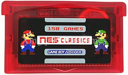 150 in 1 NES Games for Game Boy Advance SP NDS Mario SAVE STATES US