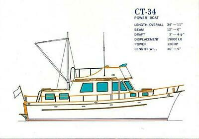 35' Ta Chiao Trawler Boat Motoryacht Cruiser like a Grand Banks Diesel Engine