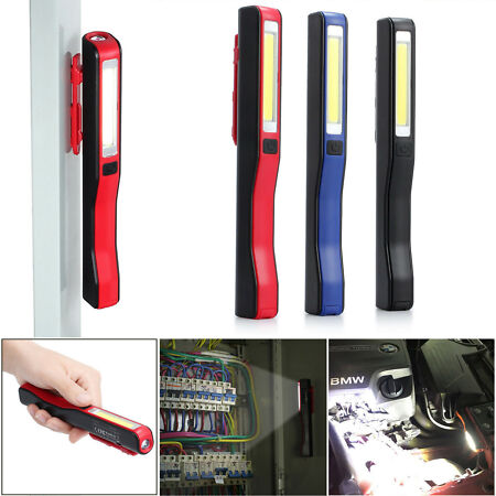 img-USB LED COB Work Light Inspection Lamp Flexible Rechargeable Torch Magnetic Home