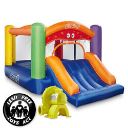 Cloud 9 Monster Bounce House with Slide and Blower Inflatable Bouncer with Bag