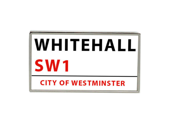 Whitehall Street Sign Rectangle Tie Pin