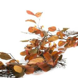 Kyпить Factory Direct Craft Faux Autumn Leaf and Bittersweet Garland | for Indoor  на еВаy.соm