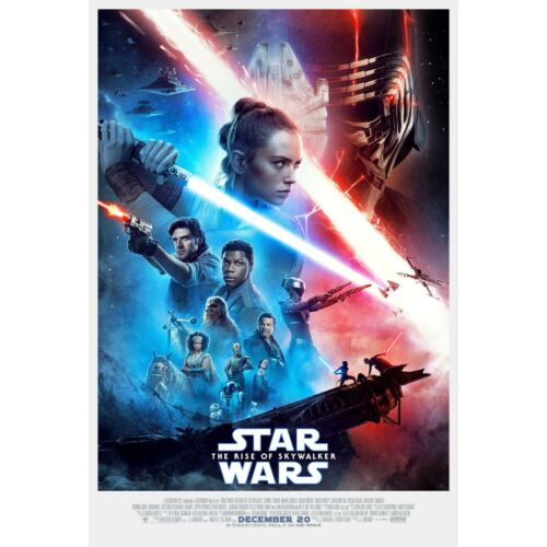 "Star Wars IX: Rise of the Skywalker Movie Poster red blue 24"" x 36"" or  27""x 40"""