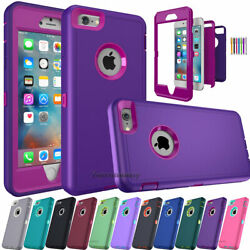 For iPhone 6S 7 8 Plus XR 11 12 13 Phone Case Hybrid Shockproof Armor Hard Cover