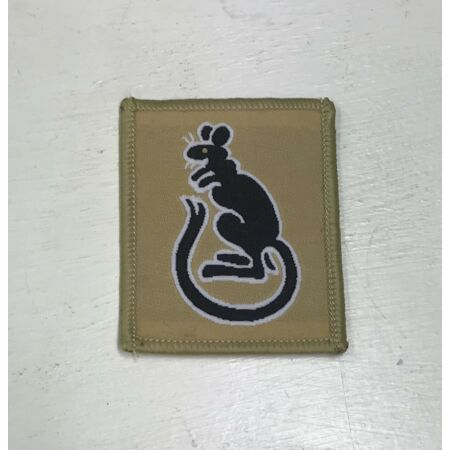 img-7th Armoured Desert Brigade Badge, Rat Subdued Desert Patch, Army MTP, Military