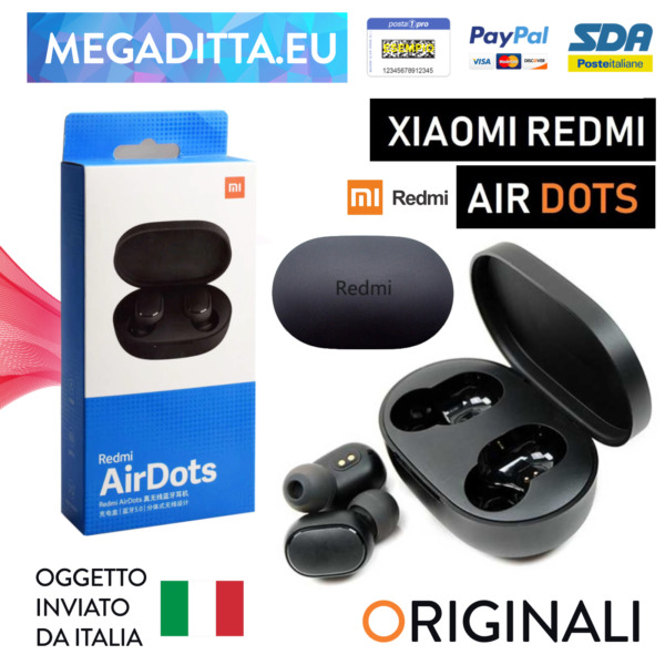 XIAOMI RedMi Airdots TRUE Wireless Auricolari Cuffie Bluetooth TWS MI Earbuds