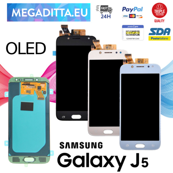 Display OLED Touch Screen Per Samsung Galaxy J5 2017 J530 Schermo Vetro Nero