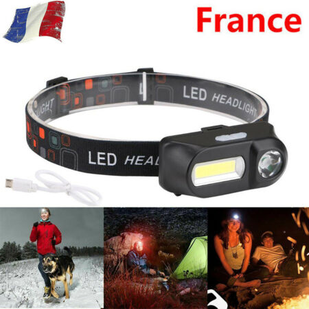 img-6modes d'éclairage lampe frontale torche lampe torche rechargeable usb LED phare