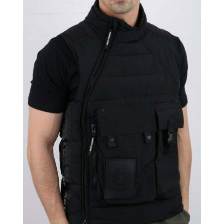 img-Marshall Artist Balistic Vest in Black - quilted sleeveless military jacket