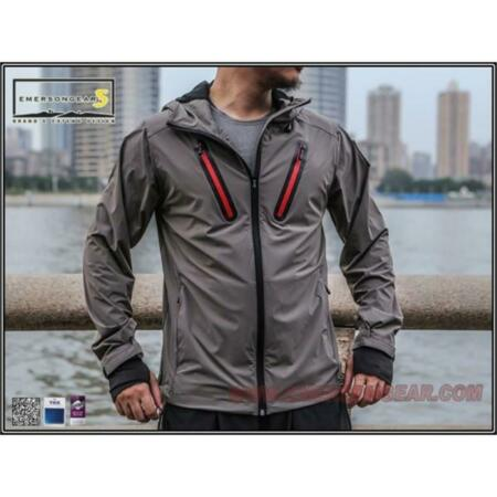 img-Jacket Hattori Skin Windbreaker Grey Size (M) Emersongear