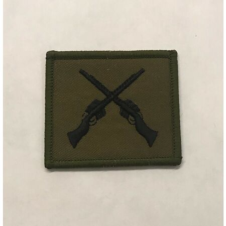 img-Cross Rifles SAA Skill Qualification Badge Subdued, Army, Military, Hook & Loop