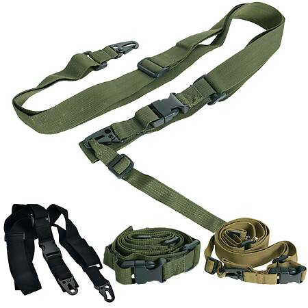 img-3 Point Military Tactical Rifle Sling Airsoft Paintball CS Bungee Gun Strap Belt