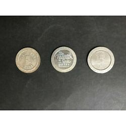 LAS VEGAS CASINO VINTAGE LOT OF 3 ONE DOLLAR GAMING COINS FROM 1968