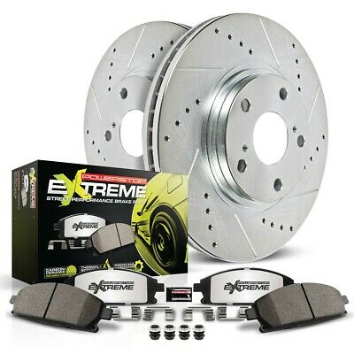 K6806-26 Powerstop Brake Disc and Pad Kits 2-Wheel Set Front New for Mustang