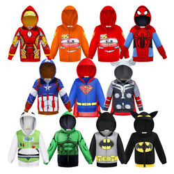 Kyпить Boys Hoodies Superhero Man Thor Spiderman Sweatshirt For Kid Cartoon Jacket Coat на еВаy.соm