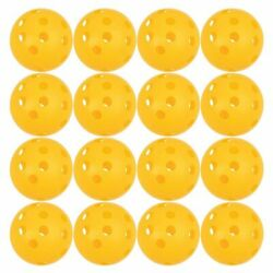 12 Pack Outdoor Pickleball Balls, Indoor and Outdoor Baseball Training Yellow